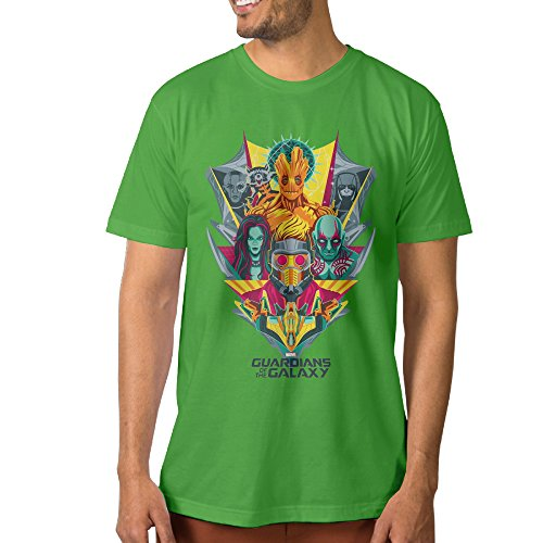 Show Time Men's Guardians Of The Galaxy Short Sleeve Geek Tee KellyGreen L