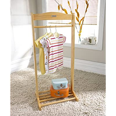 Child's Solo Natural Clothes Hanging Rail
