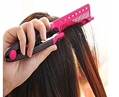 Folding Hair V Comb Hairdressing Styling Straightener Salon Tool by GokuStore