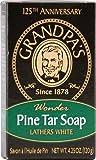 Grandpas Soap Pine Tar Bar Soap Large 4.25 Oz Case Pack Of 25