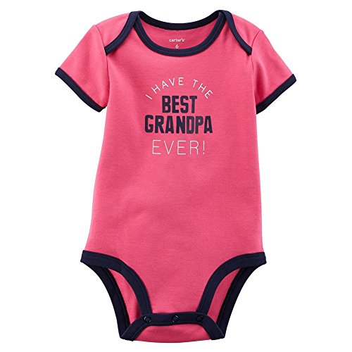 Carters Baby Girls Best Grandpa Ever Bodysuit Pink NB