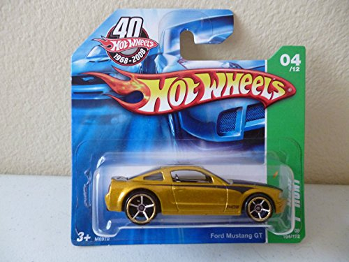 2008 Hot Wheels T-Hunt 4/12 - Ford Mustang GT [Short Card] - 1
