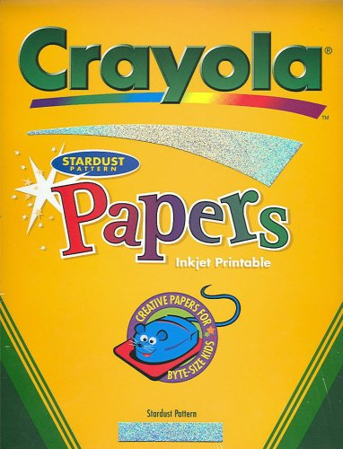 "Crayola Papers Stardust Pattern Inket Printable 8 1/2"" x 11"" - 1"
