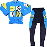 Mzcurse Men's Long Sleeve Jersey Jacket Shirts Braces Compression Pants Set