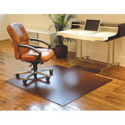 Bamboo Standard Hard Floor Rounded Edge Chair Mat Size: 36