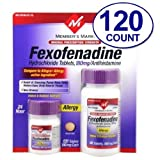 Member's Mark Original Prescription Strength Fexofenadine Hydrochloride , 180 Mg, 120 Tablets