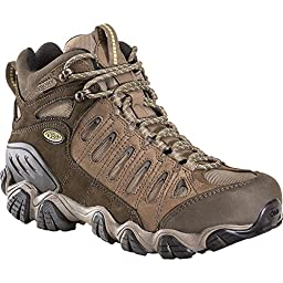 OBOZ Men\'s Sawtooth Mid BDry Hiking Boots Brown 10