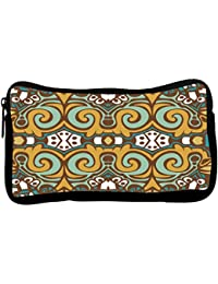 Snoogg Abstract Pattern Multicolor Design Poly Canvas Student Pen Pencil Case Coin Purse Utility Pouch Cosmetic...