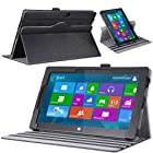 MoKo Rotatory Detachable Type / Touch Keyboard Cover Companion Sleeve Case for Microsoft Surface RT / Surface 2 10.6 Inch Windows 8 Tablet (fits with or without Type / Touch Keyboard Cover), BLACK