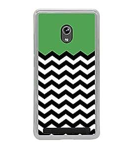 Zig Zag Line Pattern 2D Hard Polycarbonate Designer Back Case Cover for Asus Zenfone 6 A600CG