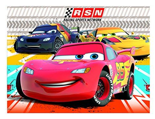 Procos 81561 - Tovaglia Plastica Cars Rsn, 120 x 180 cm, Multicolore