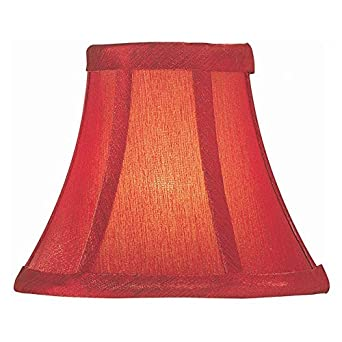 lite source ch593 6 6 inch lamp shade red lampshades. Black Bedroom Furniture Sets. Home Design Ideas