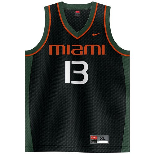 Amazon.com : Nike Miami Hurricanes #13 Black Alternate
