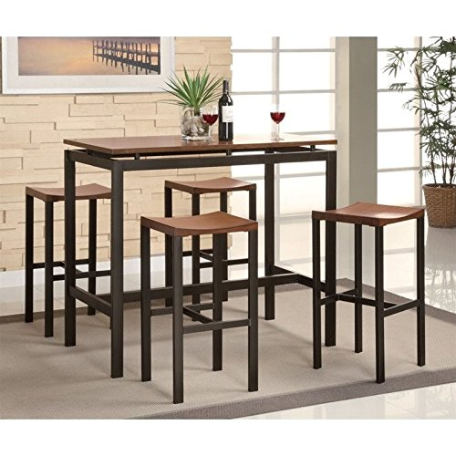 coaster-home-furnishings-150097-5-piece-casual-dining-room-set-black