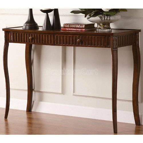 Cheap Wood Console Table Antique Cherry Finish by Coaster (B005KBUO2I)