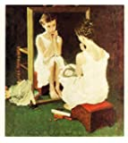 Norman Rockwell Girl At The Mirror 1954 Art Print - 8 in x 9 in - Unframed, Unmatted