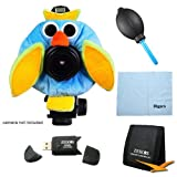 Camera Creatures Essential Bundle for Camera: Owl - Includes Outrageous Owl Portrait Posing Prop, Hi-Speed SD USB 2.0 Card Reader, Professional Blower - Dust Removal system, Tri-fold 3 Memory Card Wallet, Digpro Microfiber Cleaning Cloth