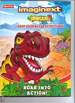 Fisher-Price Imaginext Dinosaurs Giant Coloring & Activity ...