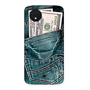 Impressive Dollars Jeans Back Case Cover for Micromax Canvas A1