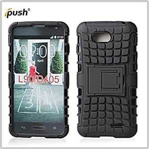 GENERIC Hybrid TPU+PC Kick Stand Phone Case Covers Shell Cover for LG L90 D405 (Assorted Colors) #02299416