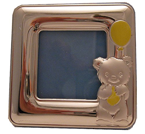 Silver Touch USA Sterling Silver Bear Picture Frame, Blue