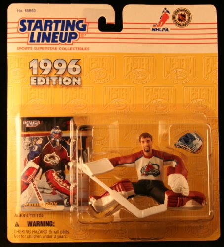 PATRICK ROY / COLORADO AVALANCHE 1996 NHL Starting Lineup Action Figure & Exclusive NHL Collector Trading Card