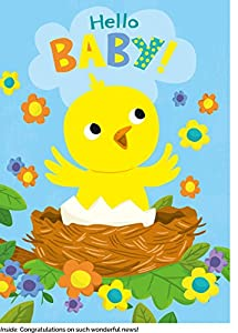 Peaceable Kingdom Card Set for New Babies - Box of 12 Cards and Envelopes from Peaceable Kingdom