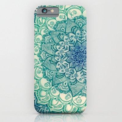 society6(ソサエティシックス) iPhone6(4.7インチ)ケースエメラルドの落書き  Emerald Doodle並行輸入品