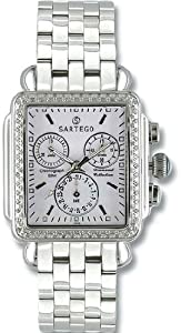 Unisex Watch Sartego SDWT391S Diamond Chronograph White Dial