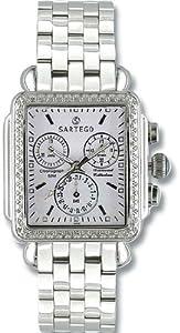 Unisex Watch Sartego SDWT391S Diamond Chronograph White Dial