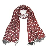Polka Dot Scarf Shawl Pashmina for Women - Luxurious Gorgeous long dotted scarfs - Blue, Pink, Red, Purple & Black