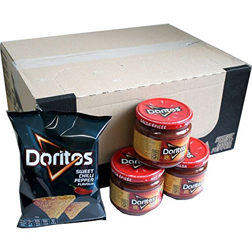 Doritos Nacho Chips Sweet Chilli Pepper 20 x 44g & Dip Sauce