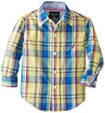 Nautica Baby-Boys Infant Plaid Woven camisa de manga larga, amarillo Claro, 24 Meses Color: Amarillo Claro Tamaño: 24 Meses (Baby/Babe/Infant - Little Ones)