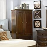 Atlantic Furniture Manhattan TV / Wardrobe Armoire - Antique Walnut