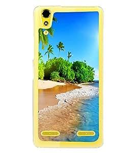 Beach 2D Hard Polycarbonate Designer Back Case Cover for Lenovo A6000 Plus :: Lenovo A6000+ :: Lenovo A6000