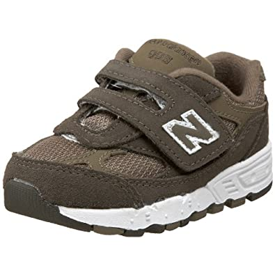 New Balance KV993 H&L Running Shoe (Infant/Toddler),Brown-BB,5.5 XW US Toddler