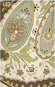 Rizzy Rugs CT-1631 5-Foot-by-8-Foot Country Area Rug, Paisley Beige