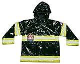 Western Chief Boys 2-7 Lighted F.D.U.S.A. Raincoat, Black, 5/6