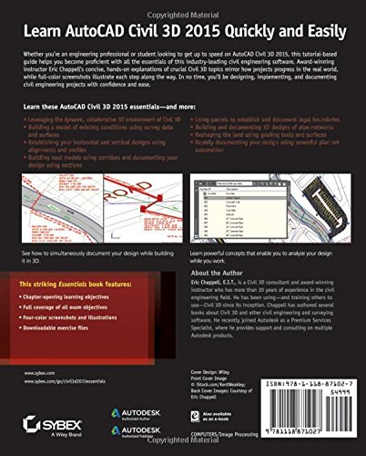 autocad civil 3d 2015 essentials autodesk official press software computer software multimedia. Black Bedroom Furniture Sets. Home Design Ideas