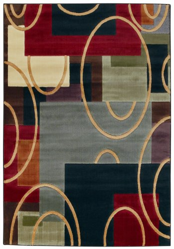 Shaw Living Impressions  2-Foot 2-Inch by 3-Foot 2-Inch Rug in Elipse Pattern, Multi