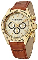 Hot Sale Stuhrling Original Men's 564L.02 Triumph Classic Swiss Quartz Multifunction Gold Tone Watch