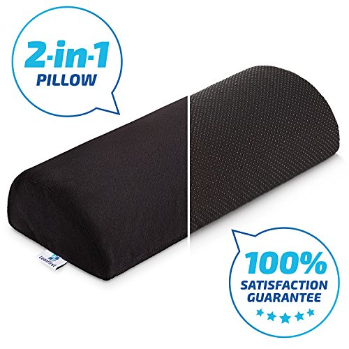 LeanFirst Foot Cushion- Half Cylinder Design- Non Slippery Cover- Stuffed With Velvet Soft Fabric- Removable& Washable- For Home, Office & Traveling- Relieves Tension on Feet And Legs