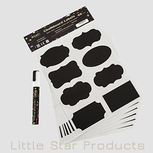 etiquetas-adhesivas-de-pizarra-kit-48-x-pegatinas-incluye-8-g-color-blanco-marcador-de-tiza-liquida-
