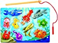 Melissa & Doug Deluxe 10-Piece Magnetic Fishing Game