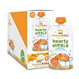 Happy Baby Organic Baby Food 3 Hearty Meals, Super Salmon, 4-Ounce Pouches (Pack of 16)