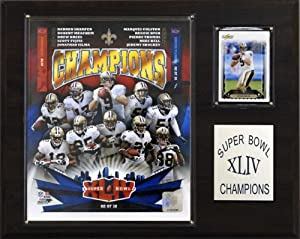 NFL Saints Super Bowl XLIV Champions Plaque by C&I Collectables