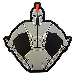 Spartan Warrior Molon Labe Morale Tactical PVC Gomme 3D Velcro Écusson Patch