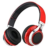 Sound Intone K8 Folding Wireless Bluetooth Stereo Headphones Adjustable Headsets (Red)