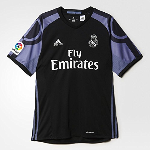 Adidas Real Madrid CF 3rd Jersey-BLACK (L) (Adidas Real Madrid Cf compare prices)