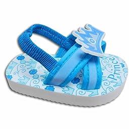 Baby Boys Flip Flop Sandals Blue Size 5 for 12-18 Months 4.75\